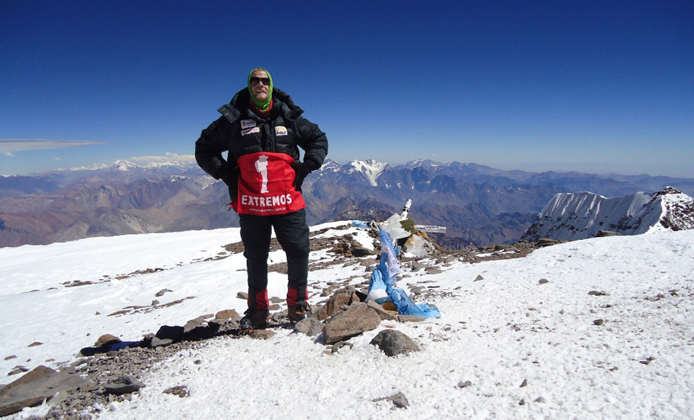 Extremos no cume do Aconcágua com Carlos Santalena