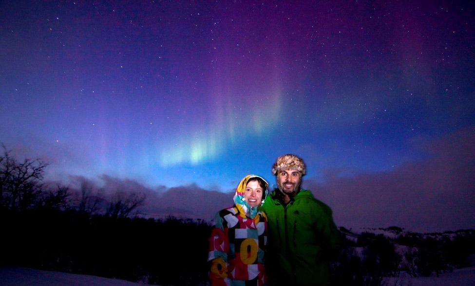 Karina Oliani e Marcelo Rabelo realizaram o sonho de ver a Aurora Boreal