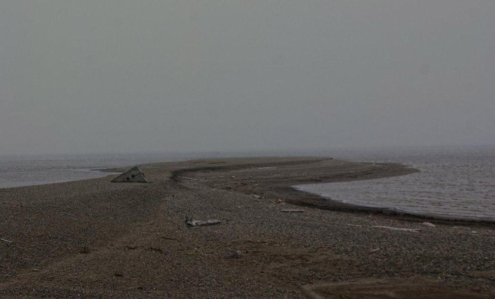 O cinza e frio mar Ártico